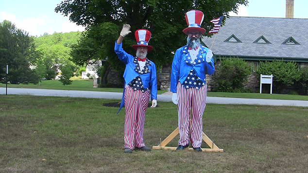 Charlie Darling Does Double Duty as Andover's Uncle Sam