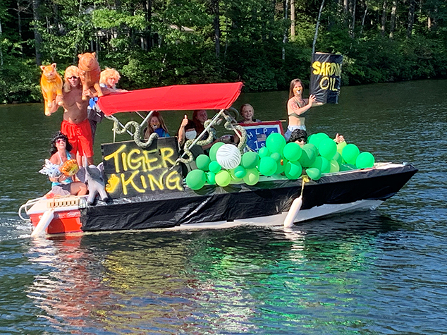 Tiger King Themed Boat Wins Highland Lake Boat Parade