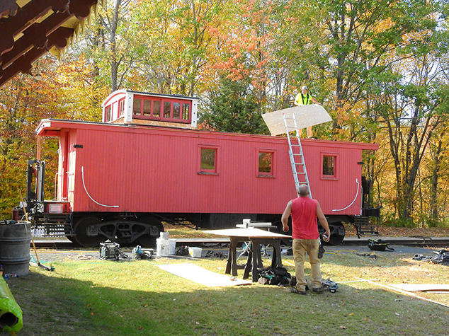 Repairs Continue on Andover Historical Society's Red Caboose