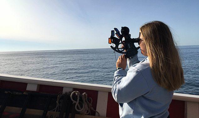 Katie Bent of Andover Studies Navigation in Ocean Classroom