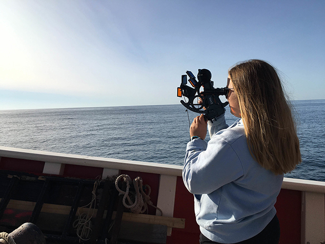 Katie Bent of Andover Studies Navigation in Ocean Classroom