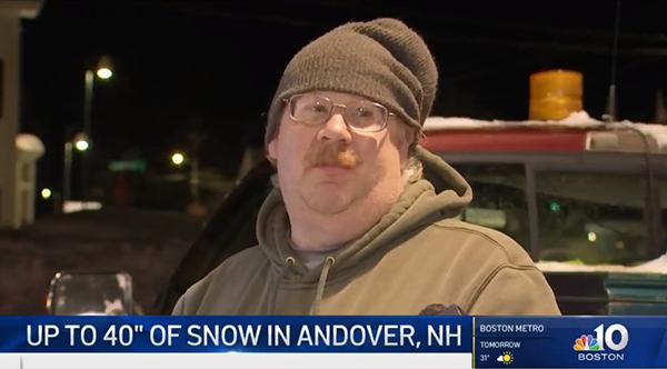 Andover's Snowfall Makes the Boston News!