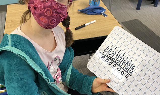 Second Grader Shows Off Her Math Skills