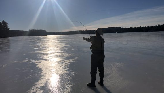 You Can't Be Serious! Ice Fishing without a Hole?