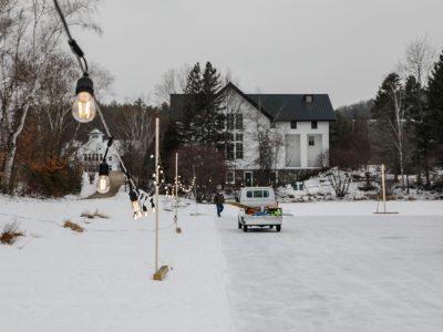 Maintenance Adds Lights to Proctor Pond's Skating Area
