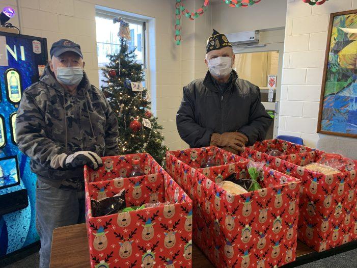 American Legion Members Prepare Food Boxes for Veterans