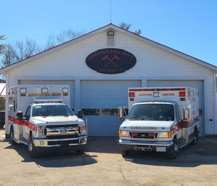 New Four Wheel Drive Ambulance Acquired by Andover EMS