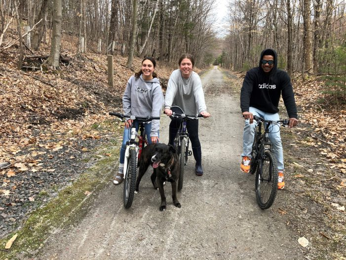 East Andover Riders Take Advantage of the Rail Trail