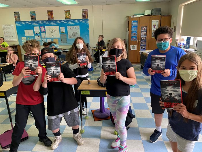 Popular Author Alan Gratz Visits AE/MS Virtually