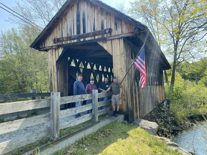 American Legion Installs New Flags on Andover Covered Bridges
