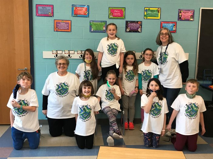Class Shows Off Earth Day Tee Shirt Designed by Classmate