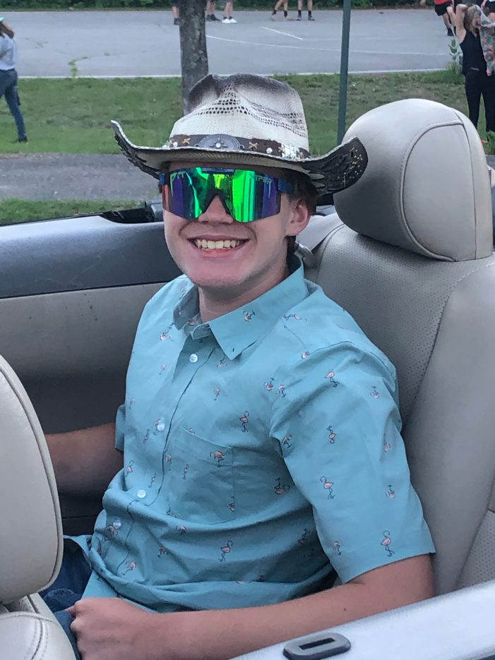 Eighth Grader Jed Duquette Arrives in Style for Graduation