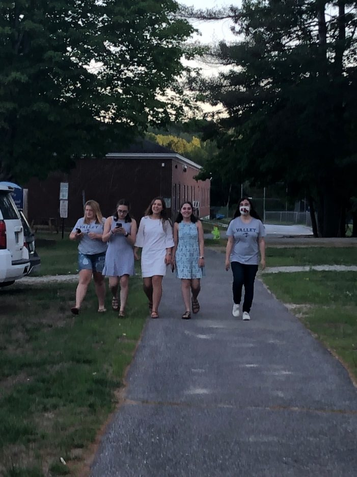 AE/MS Students Walk the School Grounds Before Graduation