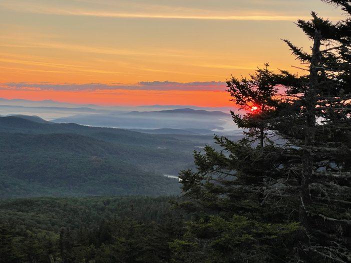 Ragged Mountain Vista Offers Serene View of Sunrise