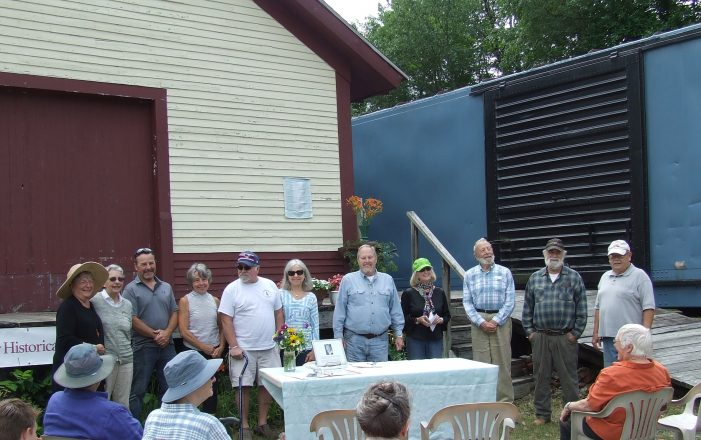 Andover Historical Society Honors Pat Cutter with Plaque