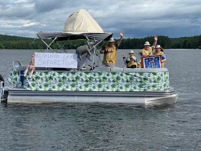 """Highland Lake Safari Tours"" Wins Fourth of July Boat Parade"