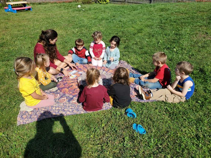 Preschoolers Learn About Caterpillars and Apples