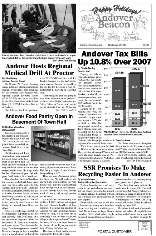 December 2008 | The Andover Beacon