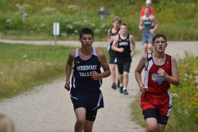 Zack Cronin was the top MVHS junior varsity runner in the Great Glens Trails meet, despite the fact that he'd taken up cross country just a week earlier! Photo: Brian Reynolds