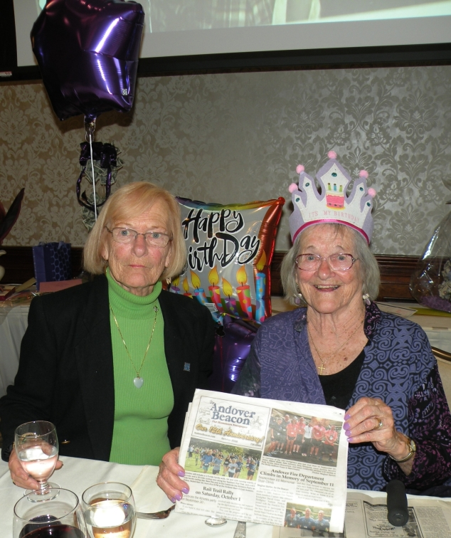 Mary Demers celebrates her 90th Birthday with family, friends, and The Beacon on November 19 at the Puritan Backroom in Manchester