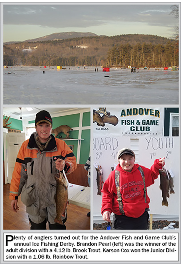 Annual ice fishing derby and deer pool results the for Ice fishing derby